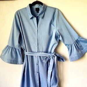 Worthington blue shirt dress size 16